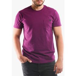 textil Herre T-shirts & poloer Edwin T-shirt avec poche violet