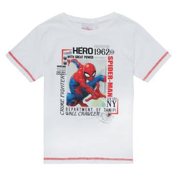 textil Dreng T-shirts m. korte ærmer TEAM HEROES  SPIDERMAN TEE Hvid