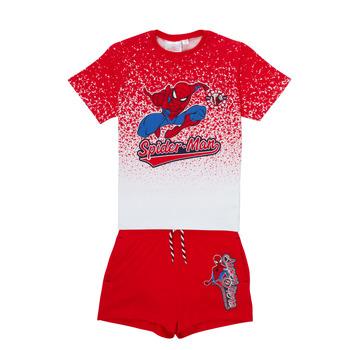 textil Dreng Sæt TEAM HEROES  SPIDERMAN SET Flerfarvet