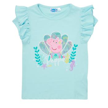 textil Pige T-shirts m. korte ærmer TEAM HEROES  PEPPA PIG TEE Blå
