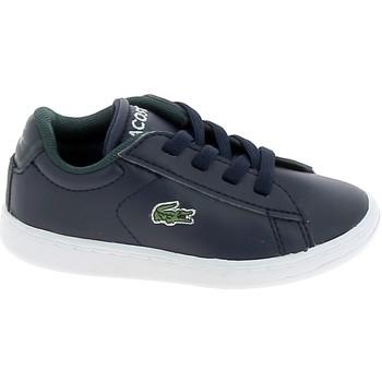 Sko Lave sneakers Lacoste Carnaby BB Marine Blanc Blå