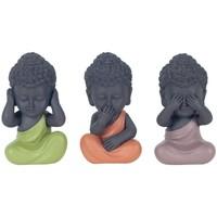 Indretning Små statuer og figurer Signes Grimalt Buddha Ser Ikke By Sigris Hører By Sigris Taler Set 3U Multicolor