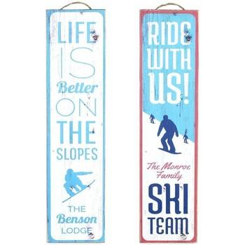 Indretning Malerier og lærreder Signes Grimalt Skisæt 2 U vægplade Azul