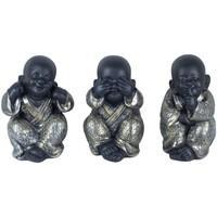 Indretning Små statuer og figurer Signes Grimalt Buddha Ser ikke-Hør-Tal Sæt 3U Plateado