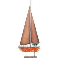 Indretning Små statuer og figurer Signes Grimalt Genbrugs Træ Sejlbåd Rojo