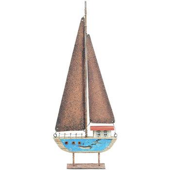 Indretning Små statuer og figurer Signes Grimalt Genbrugs Træ Sejlbåd Azul