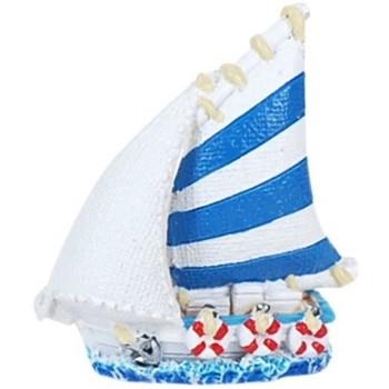 Indretning Små statuer og figurer Signes Grimalt Lille Harpiksbåd Multicolor