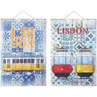 Indretning Malerier og lærreder Signes Grimalt Lissabon Vægdekoration 2 Dif. Multicolor