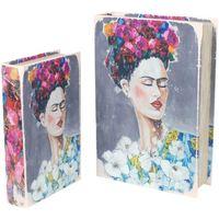 Indretning Kufferter og opbevaringskister Signes Grimalt Frida Bogkasser Sæt 2U Multicolor
