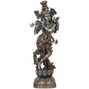 Indretning Små statuer og figurer Signes Grimalt Krishna spiller fløjte Plateado