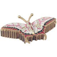 Indretning Små statuer og figurer Signes Grimalt Emalje Butterfly Box Multicolor