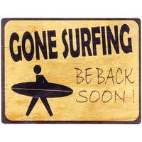 Indretning Malerier og lærreder Signes Grimalt Borte surfin vægplade Amarillo