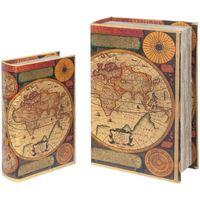 Indretning Kufferter og opbevaringskister Signes Grimalt World Book Boxes Set 2U Multicolor