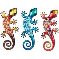 Indretning Små statuer og figurer Signes Grimalt Crystal Lizard 3U Multicolor