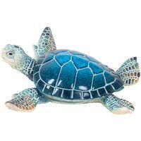 Indretning Små statuer og figurer Signes Grimalt Lille Harpiksskildpadde Azul
