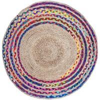 Indretning Tæpper Signes Grimalt Jute flettet tæppe Multicolor