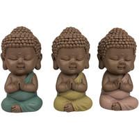 Indretning Små statuer og figurer Signes Grimalt Munke Figur Sæt 3 U Multicolor