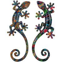 Indretning Malerier og lærreder Signes Grimalt Firben sæt 2 enheder Multicolor