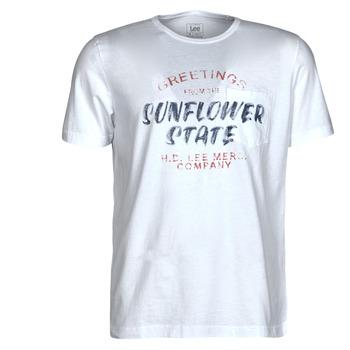 textil Herre T-shirts m. korte ærmer Lee SS POSTER TEE Hvid