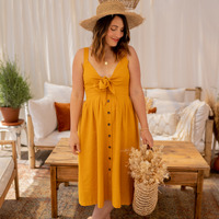 textil Dame Lange kjoler Céleste CAMOMILLE Gul