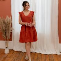 textil Dame Korte kjoler Céleste DAHLIA Terrakotta