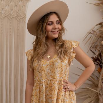 textil Dame Korte kjoler Céleste DAHLIA Gul / Hvid