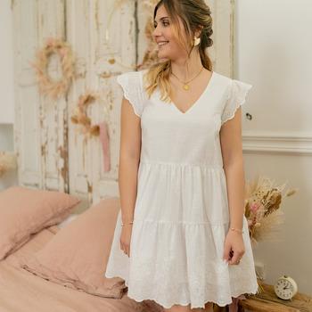 textil Dame Korte kjoler Céleste DAHLIA Hvid