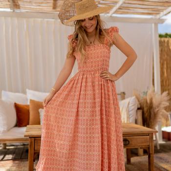 textil Dame Lange kjoler Céleste AURORE Pink