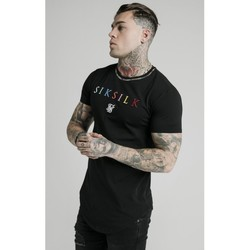textil Herre T-shirts m. korte ærmer Siksilk Curved Hem Colours Gym Tee 16662 Sort