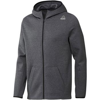 textil Herre Sweatshirts Reebok Sport Fitness Qc Dk Fz Hood Grå