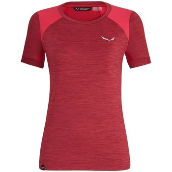 textil Dame T-shirts m. korte ærmer Salewa 271251830 Kirsebær