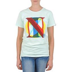 textil Dame T-shirts m. korte ærmer Nixon PACIFIC Grøn