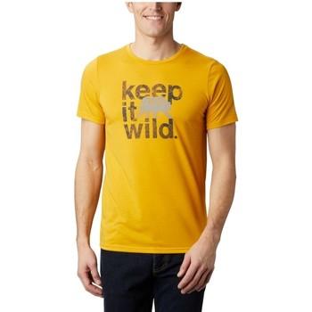 textil Herre T-shirts m. korte ærmer Columbia Terra Vale II SS Tee Gul
