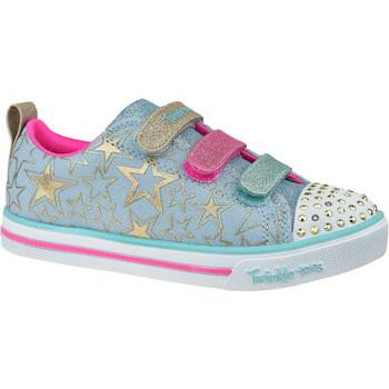 Sko Børn Lave sneakers Skechers Sparkle Lite-Stars The Limit bleu