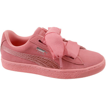 Sko Børn Lave sneakers Puma Suede Heart SNK Jr rose