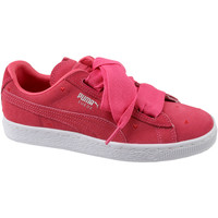Sko Børn Lave sneakers Puma Suede Heart Jr rouge