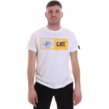 textil Herre T-shirts m. korte ærmer Caterpillar 35CC302 hvid