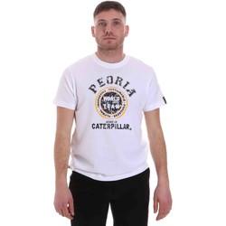 textil Herre T-shirts m. korte ærmer Caterpillar 35CC301 hvid