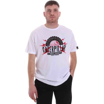 textil Herre T-shirts m. korte ærmer Caterpillar 35CC2510232 hvid