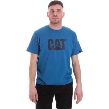 textil Herre T-shirts m. korte ærmer Caterpillar 35CC2510150 Blå