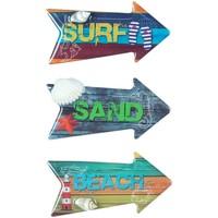 Indretning Malerier og lærreder Signes Grimalt Magnetic Surf 3 Dif. Multicolor