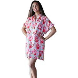 textil Dame pareos Isla Bonita By Sigris Poncho skjorte Rojo