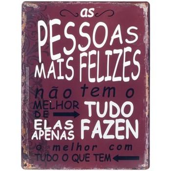 Indretning Malerier og lærreder Signes Grimalt Happy People Wall Plaque Rojo