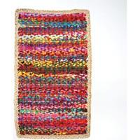 Indretning Tæpper Signes Grimalt Multi tæppe med jute Multicolor