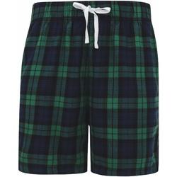 textil Herre Shorts Skinni Fit SFM82 Navy/Green Check