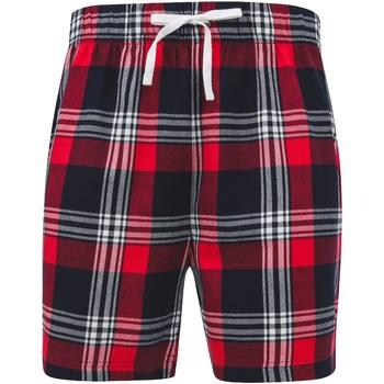 textil Herre Shorts Skinni Fit SFM82 Red/Navy Check