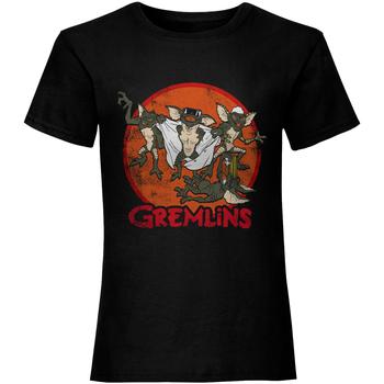 textil Dame T-shirts m. korte ærmer Gremlins  Black