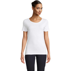 textil Dame T-shirts m. korte ærmer Sols LUCAS WOME Blanco óptimo