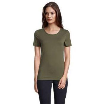 textil Dame T-shirts m. korte ærmer Sols LUCAS WOME Kaki oscuro