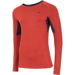 textil Herre Langærmede T-shirts 4F Men's Functional Longsleeve Rød